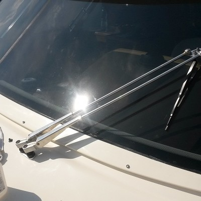 Deck fittings, marine window wipers