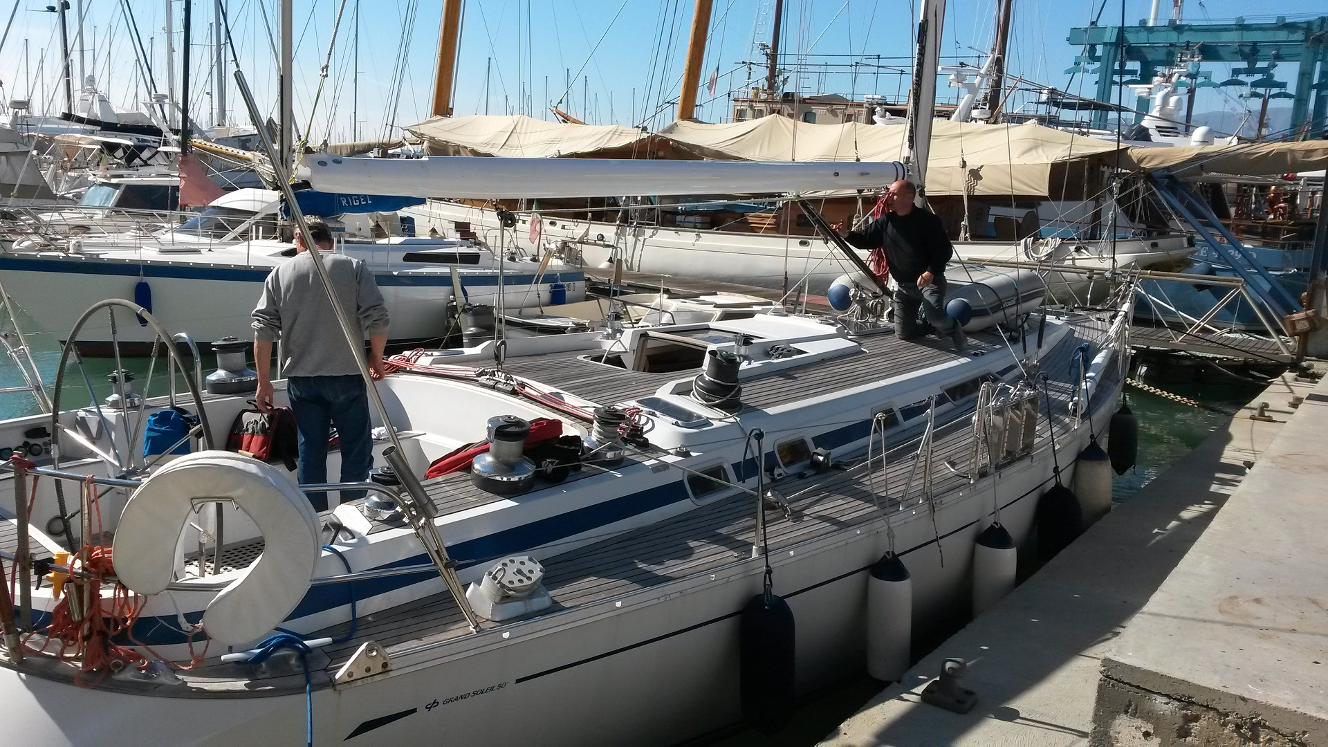 Masts, manoeuvres, equipment and rigging